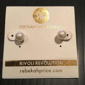 Rebekah Price Faux Pearl Stud Earrings